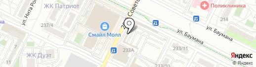 Магазин женской одежды и купальников на карте Иркутска