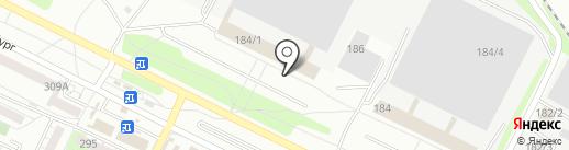 Меридиан на карте Иркутска