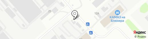 На Блюхера на карте Иркутска