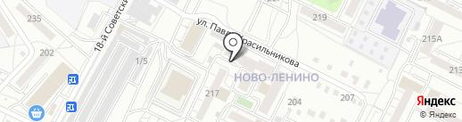 Пенное место на карте Иркутска