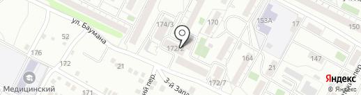 Во дворе на карте Иркутска