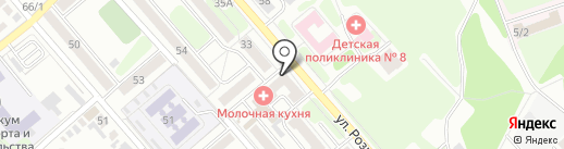 Колибри на карте Иркутска