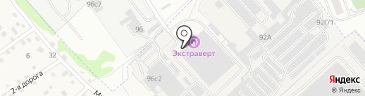 Эндемик на карте Иркутска