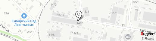 Спутник на карте Иркутска