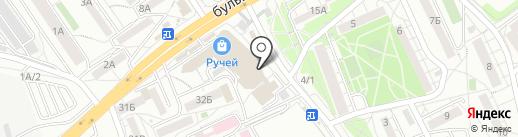 Рахат на карте Иркутска