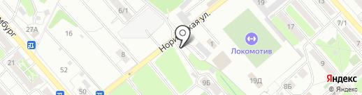 Локомотив на карте Иркутска