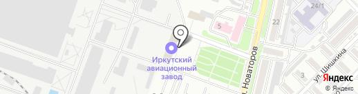Ведомственная охрана объектов промышленности Российской Федерации, ФГУП на карте Иркутска