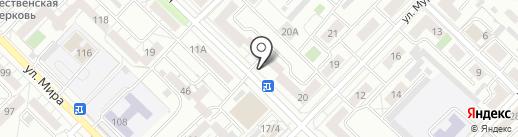 Киоск по продаже фруктов и овощей на карте Иркутска