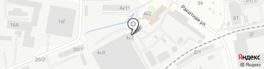 Аверс на карте Иркутска