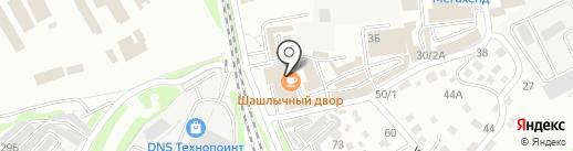 Байкальское созвездие на карте Иркутска