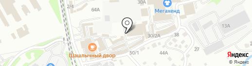 Киоск по продаже печатной продукции на карте Иркутска