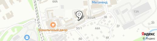 Магазин бытовой химии на карте Иркутска