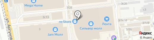 Триколор на карте Иркутска