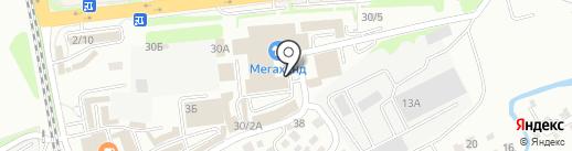 Березовая роща на карте Иркутска