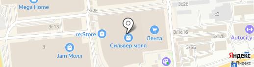 Еврочехол на карте Иркутска