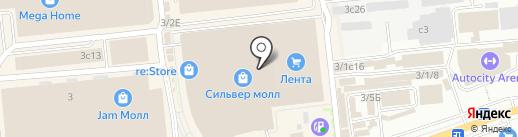 Клатч на карте Иркутска