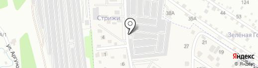 Шиномонтажная мастерская на карте Марковой