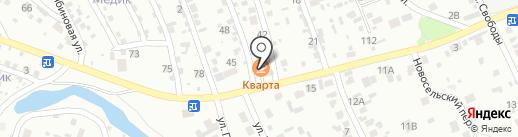 Славный на карте Иркутска