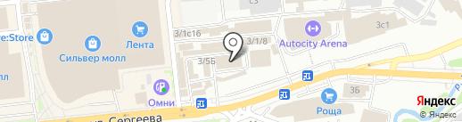 Специалист на карте Иркутска