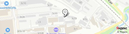 Апартаменты на карте Иркутска