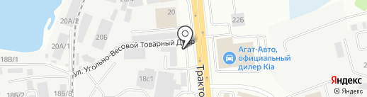 На Трактовой на карте Иркутска