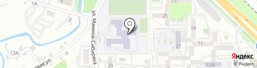 Средняя общеобразовательная школа №19 с углубленным изучением отдельных предметов на карте Иркутска