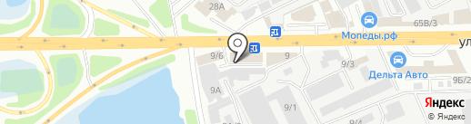 Байкал-АвтоТрак-Сервис на карте Иркутска