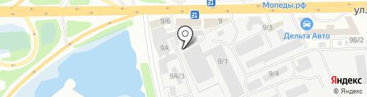 Датый Ондатр на карте Иркутска