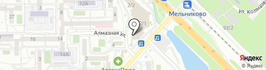 Фабрика окон и дверей на карте Иркутска