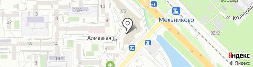 Уют мебель на карте Иркутска