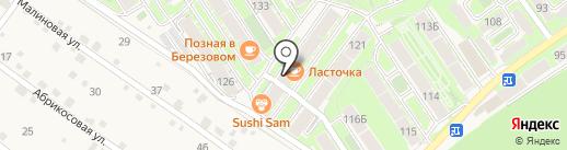 Ласточка на карте Марковой