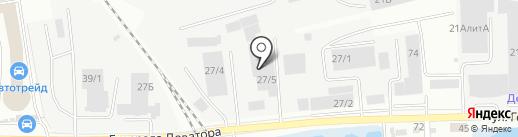 Технодром на карте Иркутска