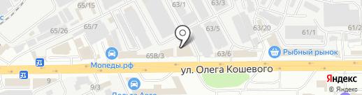 Закрома на карте Иркутска