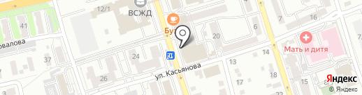 Ращеска на карте Иркутска