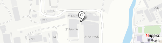 Синевир на карте Иркутска