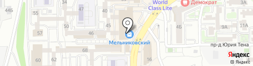 Магазин одежды на карте Иркутска