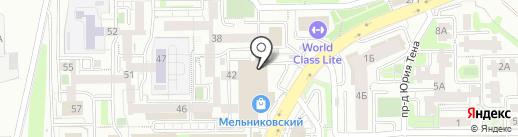 Лебёдушка на карте Иркутска
