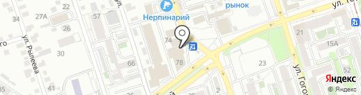 Агат на карте Иркутска