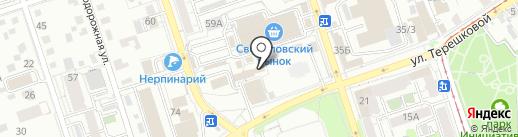 Хоз-строй-торг на карте Иркутска