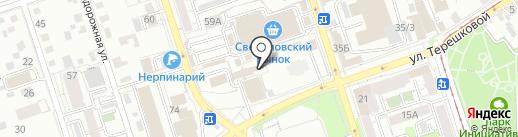 Магазин строительно-отделочных материалов на карте Иркутска