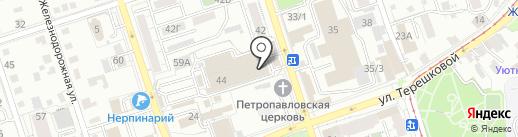 Карамелька на карте Иркутска