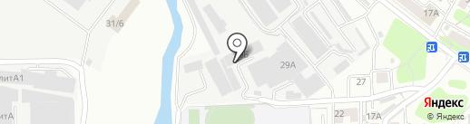 Светоч на карте Иркутска