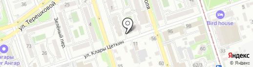 Сандал на карте Иркутска