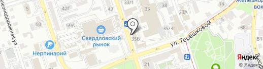Фарадей на карте Иркутска