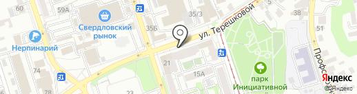 ПЫХ на карте Иркутска