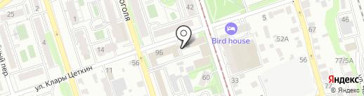 Авиатор на карте Иркутска