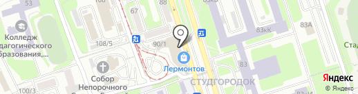КлёвО на карте Иркутска