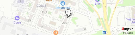 Фанагория на карте Иркутска