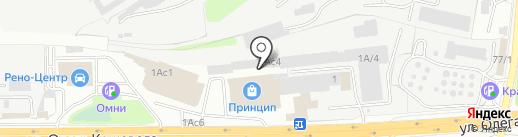 Арсенал на карте Иркутска