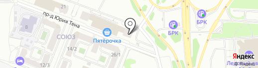 Сибирский диван на карте Иркутска